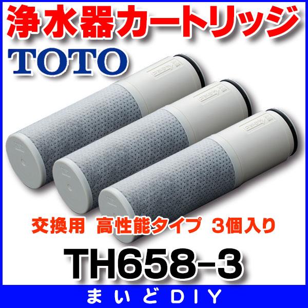 【最安値挑戦中!最大24倍】浄水器 TOTO TH658-3 浄水器カートリッジ 交換用 高性能タイプ(オプション) 3個入り [〒■]