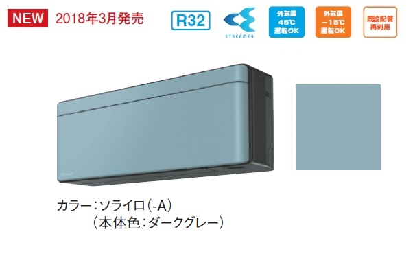 【最安値挑戦中!最大33倍】ルームエアコン ダイキン S28VTSXS-A 壁掛形 SXシリーズ 単相100V 15A 冷暖房時10畳程度 受注生産パネル ソライロ [♪§■]