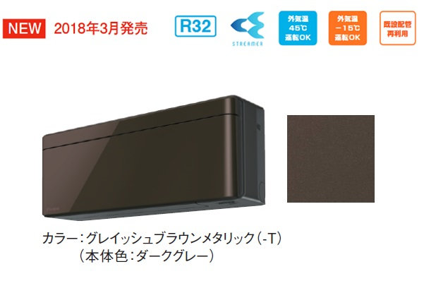 【最安値挑戦中!最大33倍】ルームエアコン ダイキン S40VTSXV-T 壁掛形 SXシリーズ 単相200V 20A 冷暖房時14畳程度 標準パネル グレイッシュブラウンメタリック [♪■]