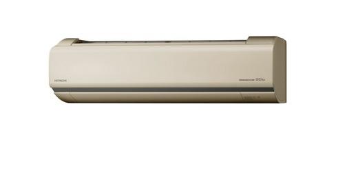 【まいどDIY】ルームエアコン 日立 RAS-V22J(C) 壁掛形 白くまくん Vシリーズ 単相100V 15A 冷暖房時6畳程度 シャインベージュ [♪]