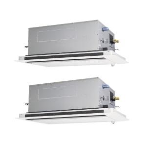 【最大44倍お買い物マラソン】業務用エアコン 三菱 PLZX-ZRP280LV 2方向天井カセット形 10馬力 三相200V  標準パネル [♪$]