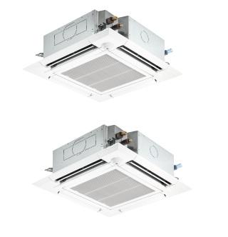 【最安値挑戦中!最大25倍】業務用エアコン 三菱 PLZX-ERMP140EW 4方向天井カセット形 コンパクトタイプ 5馬力 三相200V 標準パネル ワイヤード [♪$]