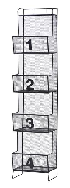 【最安値挑戦中!最大25倍】東谷 IW-67BK メッシュシェルフ 4D W36×D27×H161 [♪]