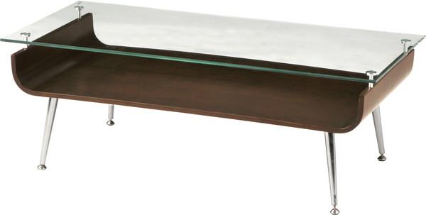 【最安値挑戦中!最大34倍】東谷 NET-301BR ガラステーブル W96×D45×H34 [♪]