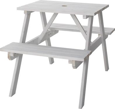 【最安値挑戦中!最大23倍】東谷 ODS-91WH テーブル&ベンチ W75 W75×D120×H75.5×SH45cm 組立 [♪]