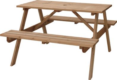 【最安値挑戦中!最大34倍】東谷 ODS-92LBR テーブル&ベンチ W120 W120×D135×H75.5×SH45cm 組立 [♪]