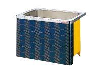 【最安値挑戦中!最大25倍】クリナップ 浴槽 SXR-91AW(R・L) レッド(R) マルチカラー・ステンレス浴槽 間口90cm 据置式1方全エプロン [♪△]