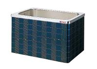 【最大44倍お買い物マラソン】クリナップ 浴槽 SXR-102AW(R・L) レッド(R) マルチカラー・ステンレス浴槽 間口100cm 据置式2方全エプロン [♪△]