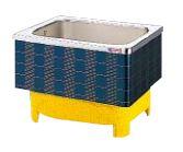 【最安値挑戦中!最大25倍】クリナップ 浴槽 SXB-92HW(R・L) ブルー(B) マルチカラー・ステンレス浴槽 間口92cm 埋込式2方半エプロン [♪△]