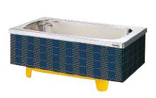 【最大44倍お買い物マラソン】クリナップ 浴槽 SXB-14S(R・L) ブルー(B) マルチカラー・ステンレス浴槽 間口140cm 埋込式2方半エプロン [♪△]