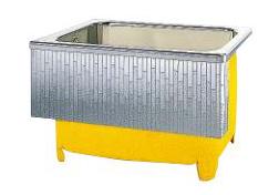 【最安値挑戦中!最大34倍】クリナップ 浴槽 SDL-101HW(R・L) モダンブロック・ステンレス浴槽 間口102cm 埋込式1方半エプロン [♪△]
