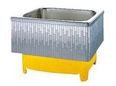 【最安値挑戦中!最大25倍】クリナップ 浴槽 SDL-92HW(R・L) モダンブロック・ステンレス浴槽 間口92cm 埋込式2方半エプロン [♪△]