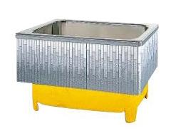 【最大44倍スーパーセール】クリナップ 浴槽 SDL-102HW(R・L) モダンブロック・ステンレス浴槽 間口102cm 埋込式2方半エプロン [♪△]