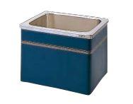 【最安値挑戦中!最大25倍】クリナップ 浴槽 SEB-82A(R・L) ブルー(B) NEWインテリアバス・ステンレス浴槽 間口80cm 据置式2方全エプロン [♪△]