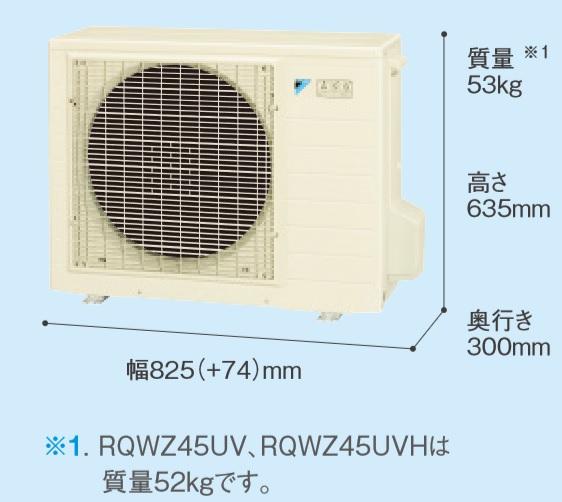 【最安値挑戦中!最大24倍】エコキュート ダイキン RQWZ45UV 交換用ヒートポンプユニット 一般地仕様 4.5kWタイプ [♪▲]