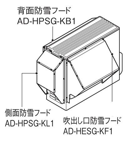 【最安値挑戦中!最大23倍】エコキュート部材 パナソニック AD-HPSG-KB1 背面防雪フード [■]