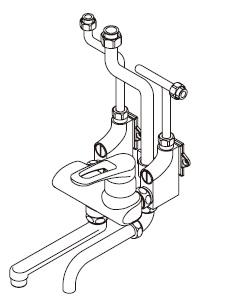【最安値挑戦中!最大34倍】ワンレバー式混合水栓 イトミック MZ-5N3 まぜまぜ MZ-N3シリーズ 壁掛型湯沸器EWシリーズ専用 露出配管 [▲§]