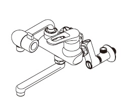 【最安値挑戦中!最大34倍】ワンレバー式混合水栓 イトミック MZ-7N3 まぜまぜ MZ-N3シリーズ 壁掛型湯沸器EWシリーズ専用 既設配管対応型 [▲§]