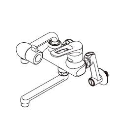 【最安値挑戦中!最大34倍】ワンレバー式混合水栓 イトミック MZ-1N3P まぜまぜP MZ-N3Pシリーズ 床置型給湯器ES-DWシリーズ専用 埋め込み配管 [▲§]