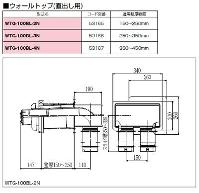 【最安値挑戦中!最大23倍】ガス給湯器 部材 パロマ【WTG-100BL-3N】(53166) パロマ FFエコジョーズ専用排気筒関連部材 ウォールトップ(直出し用), ハイレット 自由が丘:849cf2a3 --- jpworks.be