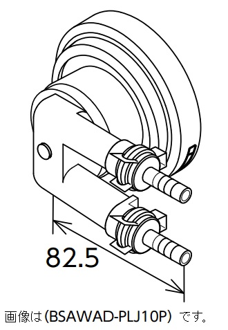 Water heater instrument of material BSAWAD-PLJ12P option Paloma parts circular fittings (bus adapters) forced circulation type shoots connection type L-type