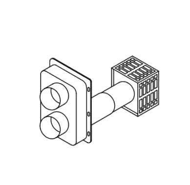 【最安値挑戦中!最大25倍】ガス給湯器 部材 パーパス TP-DPT15A-20 ふろがま関連部材 給排気筒トップ BFDP式 [◎]