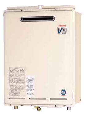 【最安値挑戦中!最大25倍】ガス給湯器 リンナイ RUX-V1600PS 16号 屋外壁掛 PS扉内設置型 [∀■]