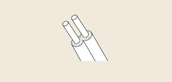【最安値挑戦中!最大25倍】ガス給湯器 部材 リンナイ UF-PT-25 2芯被覆銅管(φ12.7) (25m) [≦]
