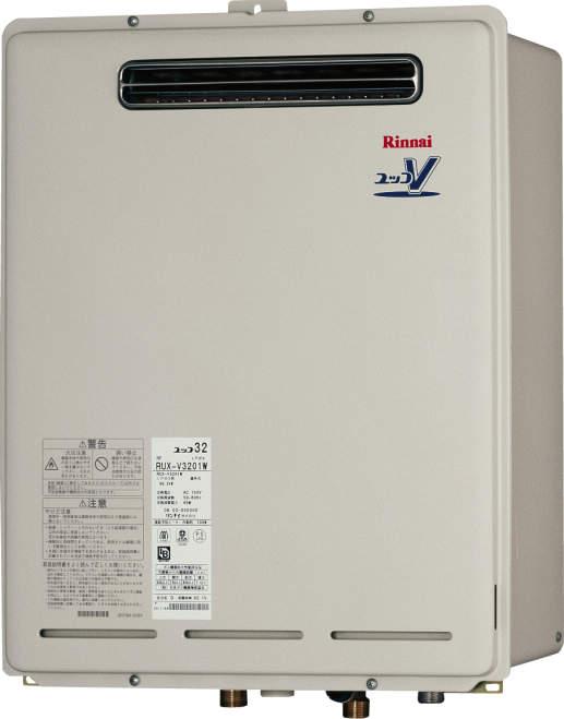 【最安値挑戦中!最大34倍】ガス給湯器 リンナイ RUXC-V3201W-JE 業務用タイプ 32号 給湯専用 屋外壁掛・PS設置型 塩害仕様品 20A [■]