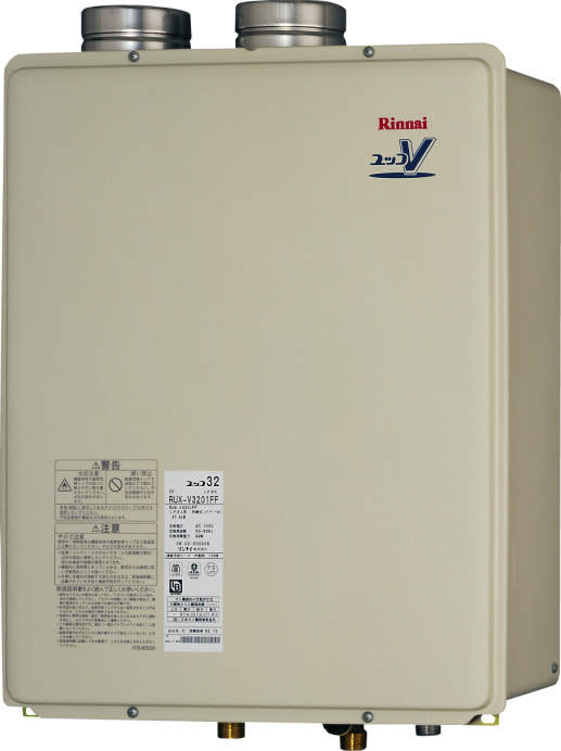 【最安値挑戦中!最大25倍】ガス給湯器 リンナイ RUXC-V3201FF 業務用タイプ 32号 給湯専用 FF方式・屋内壁掛型 20A [■]