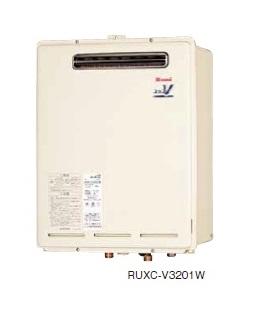 【最安値挑戦中!最大34倍】ガス給湯器 リンナイ RUXC-V3201W 業務用タイプ 32号 給湯専用 屋外壁掛・PS設置型 20A [■]