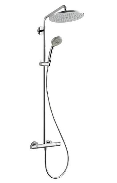 【最大44倍お買い物マラソン】セラトレーディング HG26790S Croma Select 280 サーモスタット式シャワー用湯水混合栓(シャワーパイプタイプ) クロム [■]