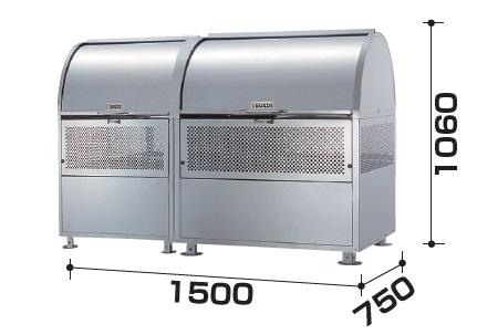 ダイケン クリーンストッカー CKM-TN150R型 間口1500mm×奥行750mm 容量880L [♪▲§]