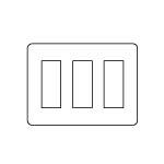 【最安値挑戦中!最大34倍】電設資材 パナソニック WTV6209S2 コンセント用プレートシルバ-グレ- グレーシアシリーズ Fプレート 9コ用 受注生産 [∽§]