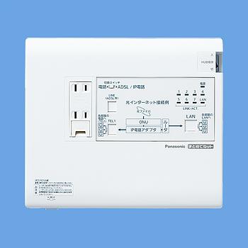 【最安値挑戦中!最大33倍】 電設資材 パナソニック WTJ5547 宅内LANパネル まとめてねット(光コンセント)(電話2外線タイプ) [∽]