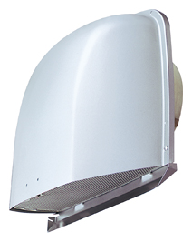 【最安値挑戦中!最大25倍】メルコエアテック AT-125FNAK4 深形フード(ワイド水切タイプ) 外壁用(アルミ製) 接続口サイズφ125 網 [$$]¢≠