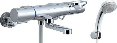 【最安値挑戦中!最大23倍】INAX BF-WM147TSB シャワーバス水栓 洗い場専用 サーモスタット クロマーレS エコフル多機能シャワー 一般地用 [□]