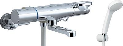 【最安値挑戦中!最大24倍】INAX BF-WM147TSG シャワーバス水栓 洗い場専用 サーモスタット クロマーレS エコフルスプレーシャワー 一般地用 [□]