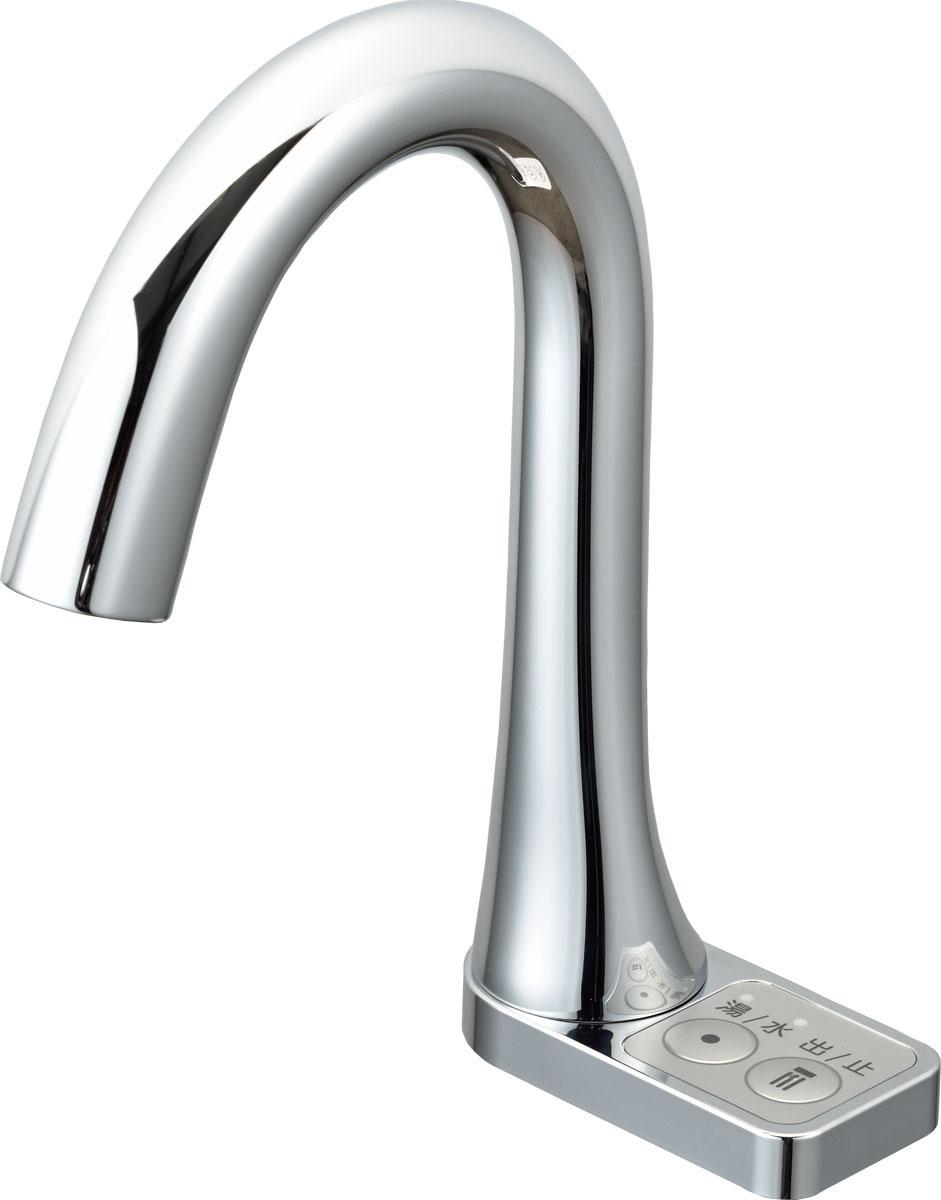 【最安値挑戦中!最大25倍】水栓金具 INAX AM-213TCV1 洗面器・手洗器用 自動水栓 オートマージュ グースネック スイッチ付 逆止弁付 一般地 排水栓なし [□]