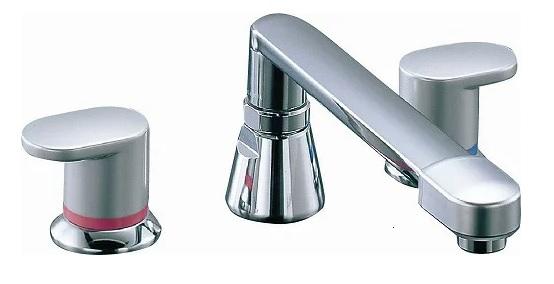 【最安値挑戦中!最大25倍】水栓金具 INAX BF-7093C-U バス水栓 デッキタイプ 2ハンドル アステシア 乾式工法 寒冷地 [□]