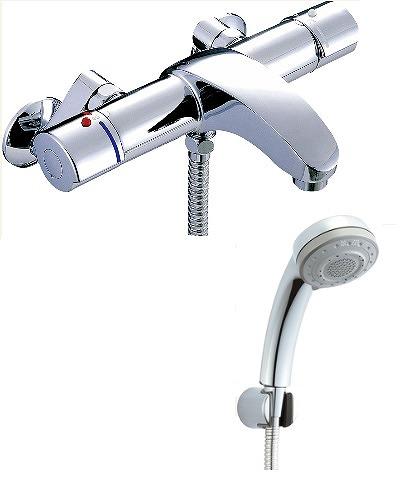 【最安値挑戦中!最大25倍】水栓金具 INAX BF-A147TSB シャワーバス 洗い場専用 サーモスタット アウゼ 逆止弁付 一般地 [□]
