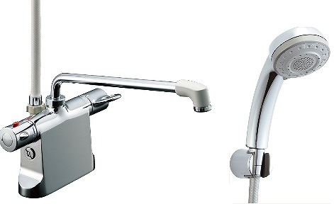 【最安値挑戦中!最大23倍】水栓金具 INAX BF-B646TNSB(300)-A85 サーモスタット付シャワーバス デッキ・シャワータイプ 逆止弁付 乾式工法 寒冷地 [□]