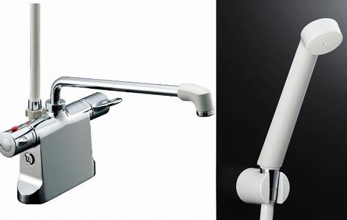 【最安値挑戦中!最大23倍】水栓金具 INAX BF-B646TNSD(300)-A85 サーモスタット付シャワーバス デッキ・シャワータイプ 乾式工法 逆止弁付 寒冷地 [□]