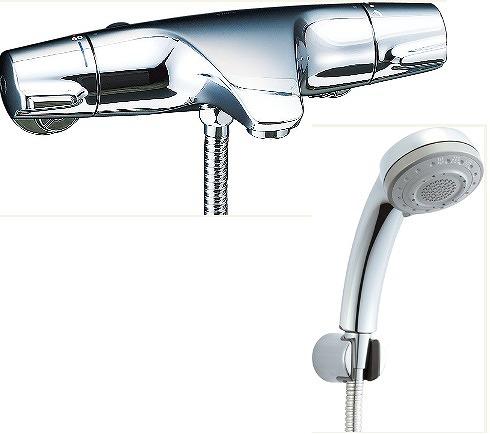 【最安値挑戦中!最大34倍】水栓金具 INAX BF-J147TSB シャワーバス 洗い場専用 サーモスタット ジュエラ 逆止弁付 一般地 [□]