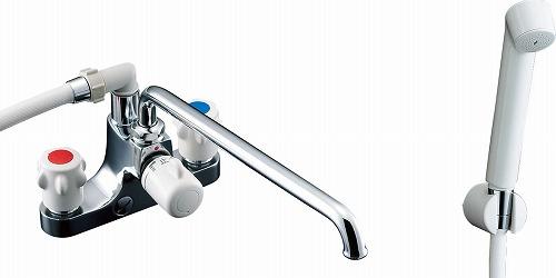 【最安値挑戦中!最大25倍】水栓金具 INAX BF-M607H-GA ホールインワン専用浴槽 2ハンドル ミーティス 逆止弁付 乾式工法 一般地 [□]