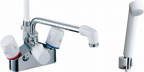 【最安値挑戦中!最大34倍】水栓金具 INAX BF-M616HN シャワーバス デッキ・シャワータイプ 2ハンドル ミーティス 逆止弁付 乾式工法 寒冷地 [□]