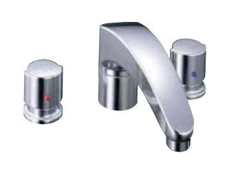 【最安値挑戦中!最大25倍】水栓金具 INAX BF-A090B-U バス水栓 デッキタイプ 2ハンドル アウゼ 湿式工法 寒冷地 [□]