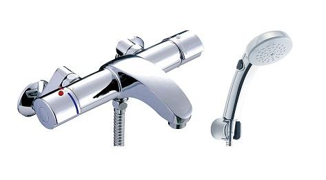【最安値挑戦中!最大34倍】水栓金具 INAX BF-A147TSCW シャワーバス 洗い場専用 サーモスタット アウゼ 逆止弁付 一般地 [□]