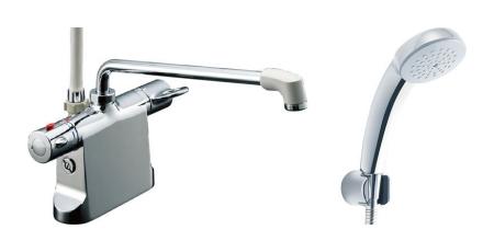 【最安値挑戦中!最大34倍】水栓金具 INAX BF-B646TSC(300)-A120 サーモスタット付シャワーバス デッキ・シャワータイプ 乾式工法 逆止弁付 一般地 [□]