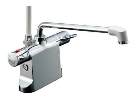 【最安値挑戦中!最大34倍】水栓金具 INAX BF-B646TSD(300)-A100 サーモスタット付シャワーバス デッキ・シャワータイプ 乾式工法 逆止弁付 一般地 [□]